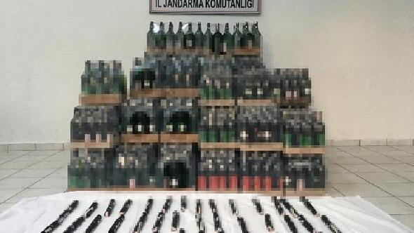Kırklarelide 643 litre kaçak içki ele geçirildi