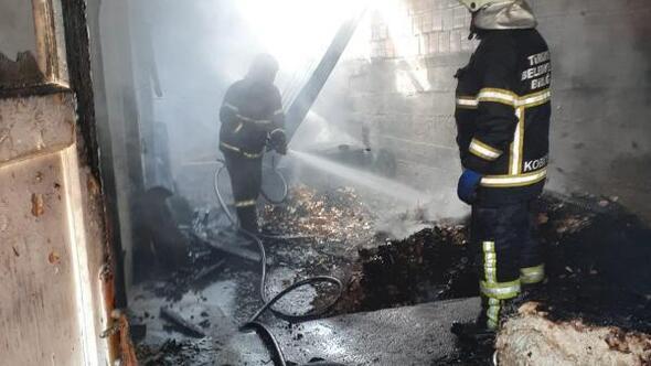Ulaşta tandır evinde yangın
