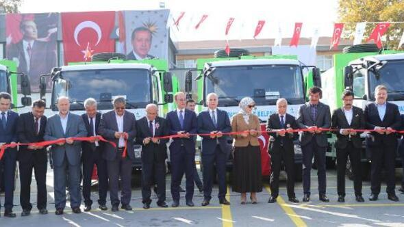 Pamukkaleye 27 yeni çöp kamyonu