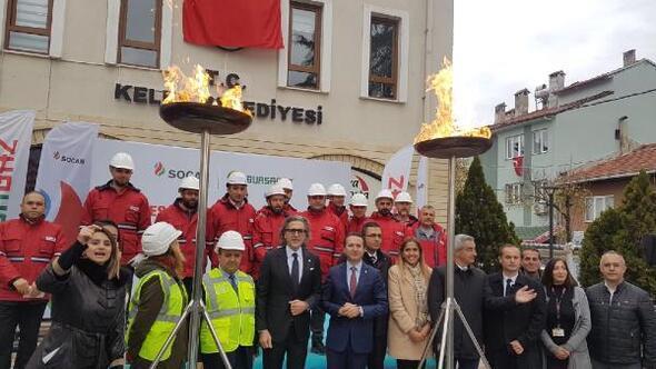 Keleste doğalgaz heyecanı