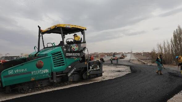 Kocasinanda asfaltlama çalışmaları