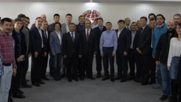 Kazakistan iş heyeti NİTSOyu ziyaret etti