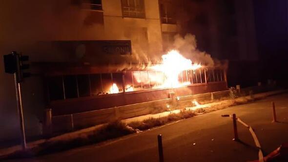 Kırşehirde lokanta yandı