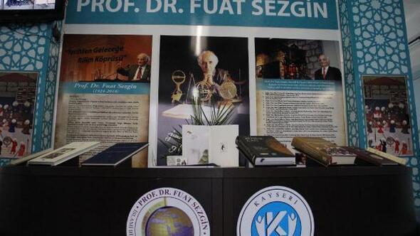 Kayseri'de 'Prof. Dr. Fuat Sezgin Köşesi' açıldı