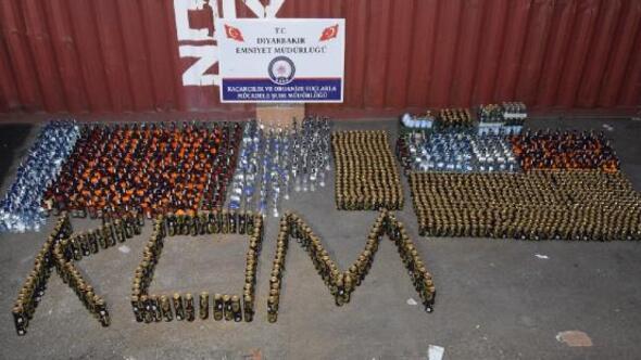Yeni yıl öncesi Diyarbakır'da 500 bin TL değerinde kaçak içki ele geçirildi