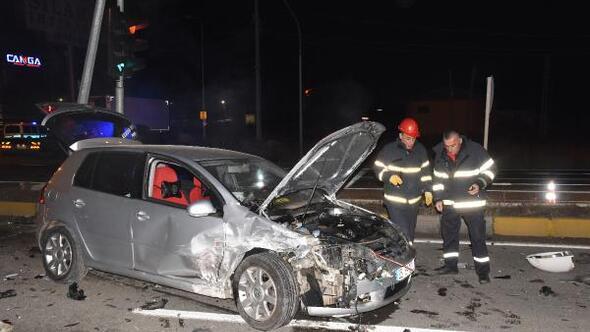 Şüpheli kovalayan polisler kaza yaptı: 2si polis, 3 yaralı