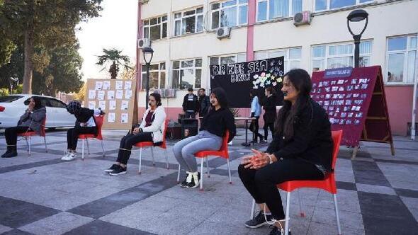Öğrenciler, kadına şiddete karşı farkındalık yarattı