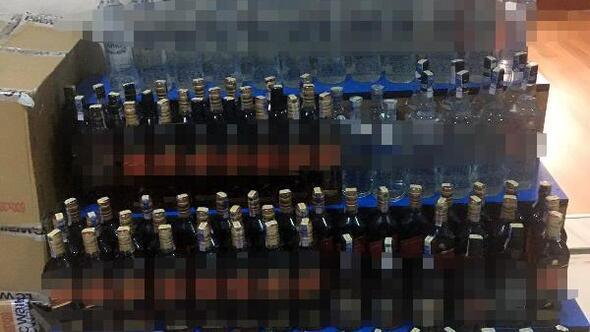 Keşanda 140 şişe kaçak içki ele geçirildi