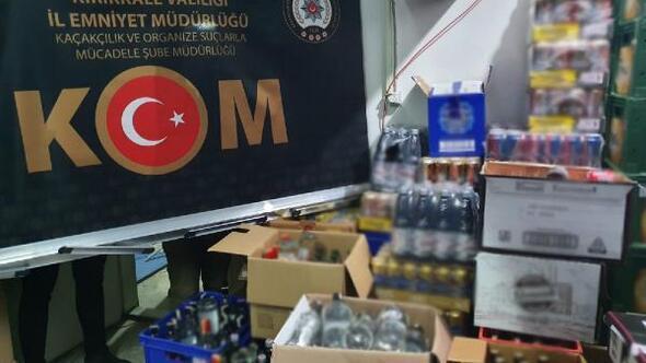 Kırıkkalede 2 bin 351 şişe kaçak içki ele geçirildi