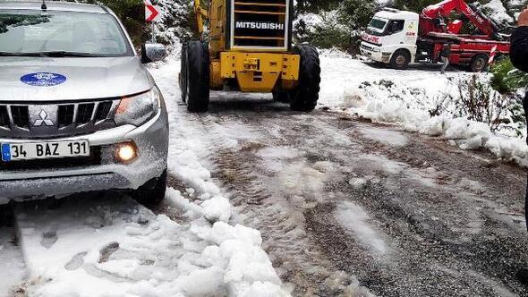 Aydında yüksek kesimlere kar yağdı