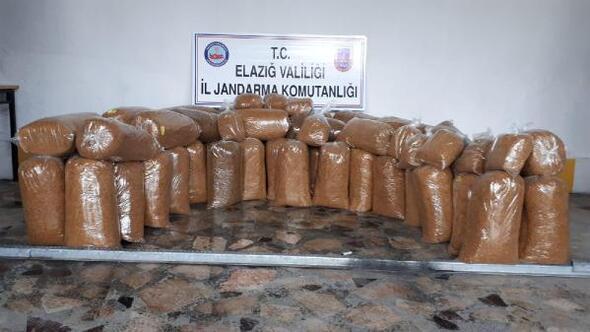 Elazığda 328 kilo kaçak tütün ele geçirildi