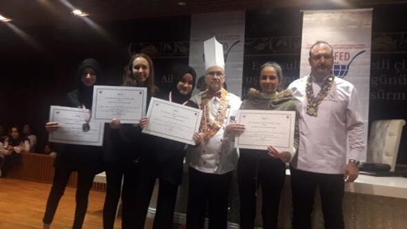 Gönenli öğrenciler aşçılıklarını ödülle tescilledi