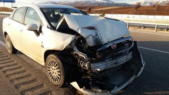 Dinarda kaza: 1 yaralı