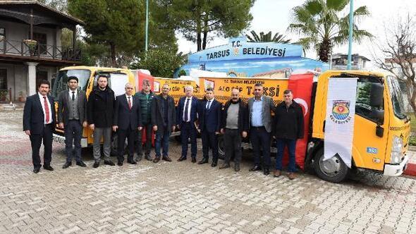 Tarsus'ta çöp taksi hizmete girdi