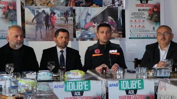 Burdurdan İdlibe yardım kampanyası