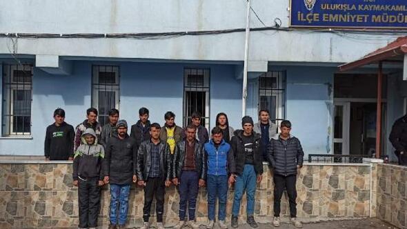 Niğdede 15 kaçak göçmen yakalandı