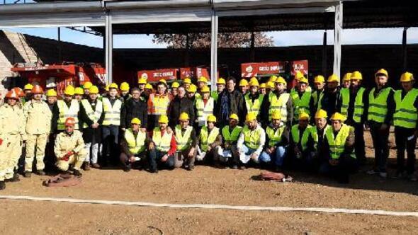 Gedizde 57 yangın gönüllüsüne eğitim verildi