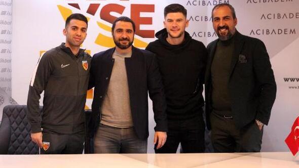 Kayserispor, Emre Taşdemir ve Cristian Sapunaruya imzayı attırdı