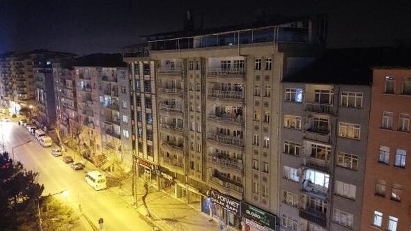 Malatyada yıkılacak riskli 2 bina, havadan görüntülendi