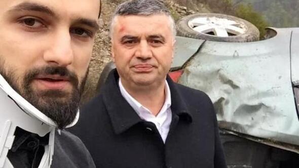 AK Partili başkan ve 2 kişi, takla atan otomobilde yaralandı