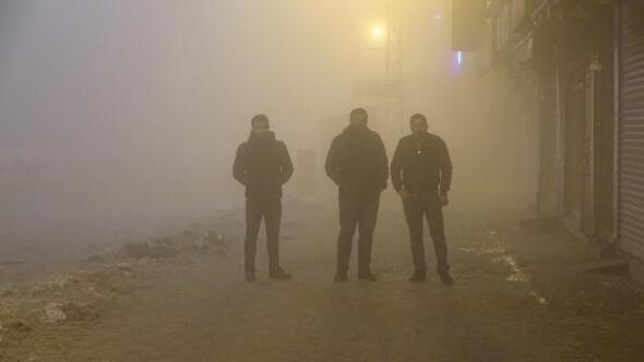 Yüksekovada yoğun sis