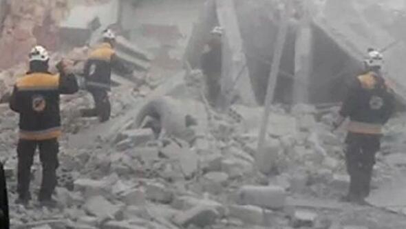 Suriyede İdlibe yönelik saldırılar sürüyor
