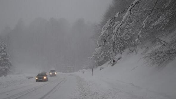 Domaniçte kar yağışı