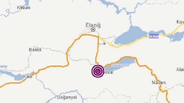 Elazığda 4.5 ve 4.2 büyüklüğünde iki deprem