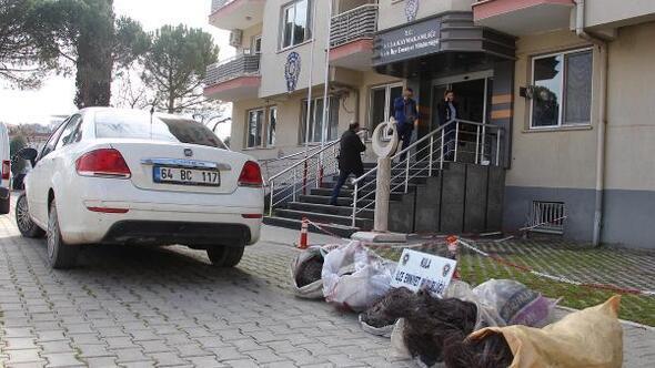 Kiralık otomobille kablo çalan 3 kişi tutuklandı