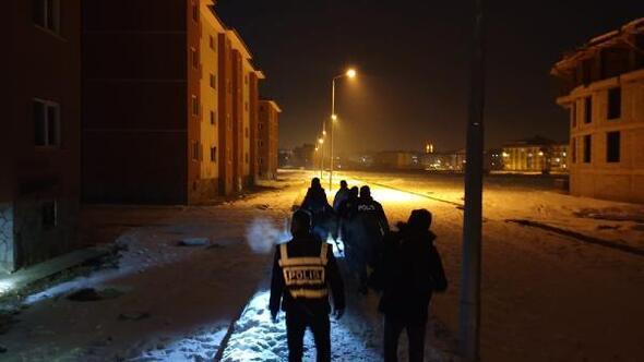 Ağrıda  eksi 24 derecede Temiz sokak, Güvenli Şehir uygulaması