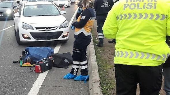 Yolun karşısına geçmek isterken otomobilin çarptığı yaya öldü