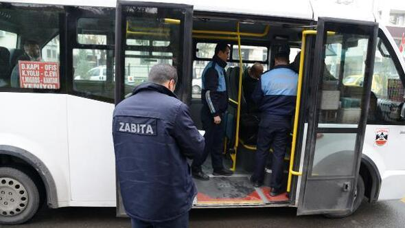 Diyarbakırda toplu taşıma araçları denetlendi