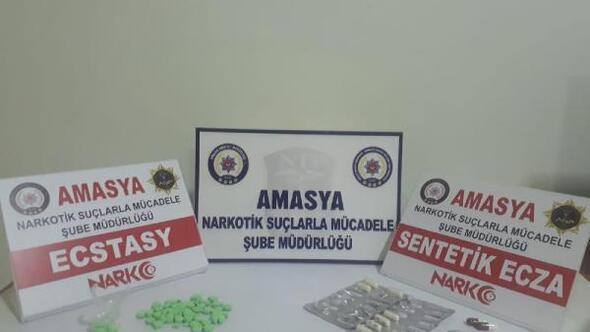 Amasyada uyuşturucu ticaretine 4 gözaltı