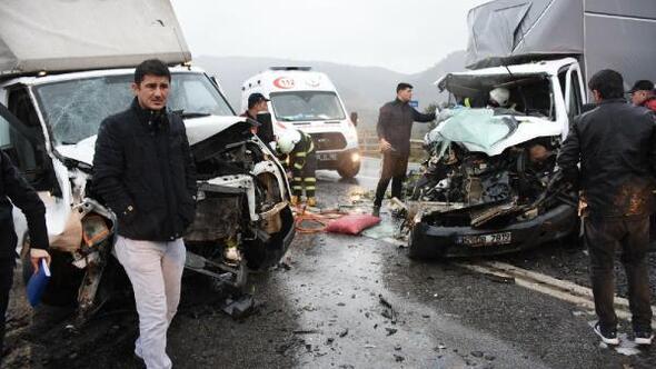 Aydında 3 aracın karıştığı zincirleme kaza: 1 ölü, 7 yaralı
