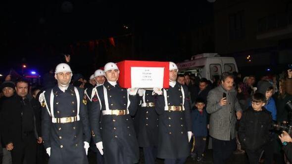 Şehit Uzman Çavuşun cenazesi memleketine getirildi
