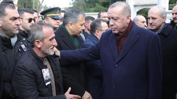 Cumhurbaşkanı Erdoğan Van şehidi Cihan Eratın cenazesine katıldı