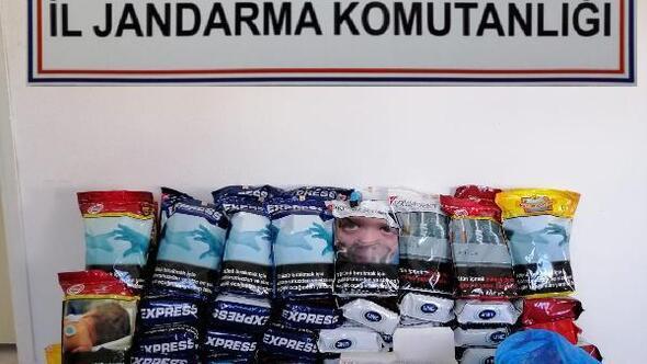Mudurnuda kaçak tütün satışı yapan kişi gözaltına alındı