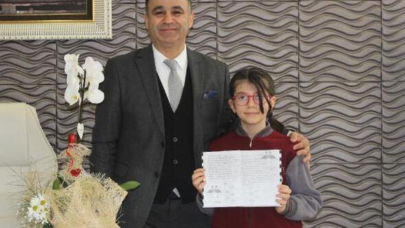 Matematik yarışmasında dünya 1incisi olan Elanur Akıncıdan Yahşiye ziyaret