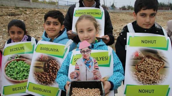 Öğrencilere bakliyat ürünleri dağıtıldı