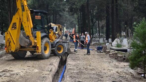 Kabasakal ve Akkapı mezarlıklarına sağlıklı içme suyu