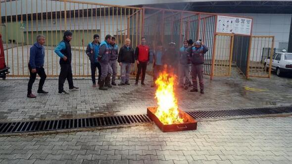 Bahçeşehir Stadında yangın tatbikatı