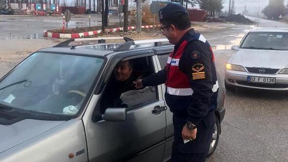 Jandarma ekiplerinden uygulama