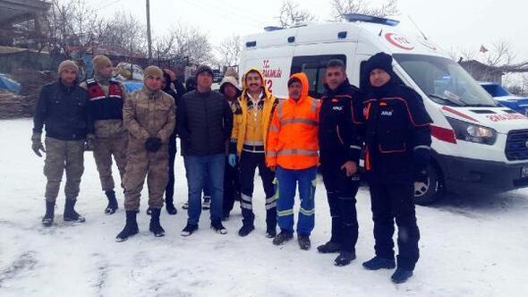 AFAD ve Jandarma, kalp krizi geçiren vatandaş için seferber oldu