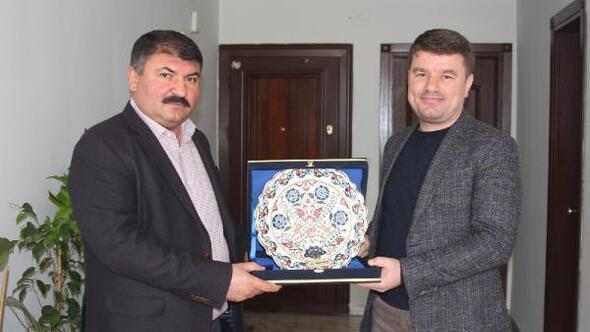 Aksaray Belediye Başkanı, Kültür Park Yönetim Kurulu Başkanını ziyaret etti