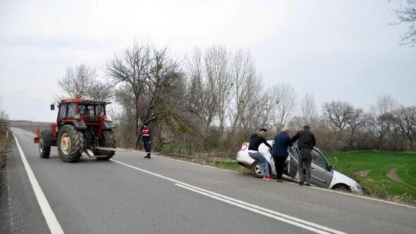 Malkarada kaza: 1 yaralı