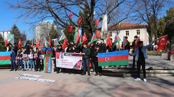 Çankırıda Azeri öğrenciler, Hocalı katliamını protesto etti