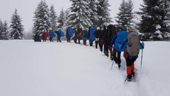 İkizderede, Çağrankaya kar yürüyüşü yapıldı