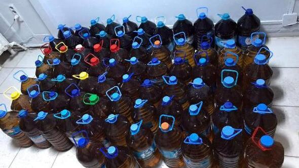 Tekirdağda 595 litre sahte içki ele geçirildi