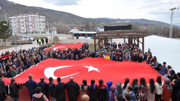 Akıncılarda Milli birlik ve beraberlik yürüyüşü