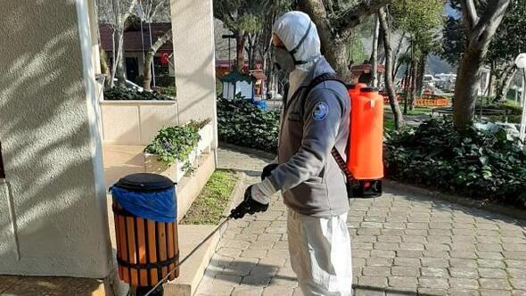 Salihli genelinde dezenfekte çalışması